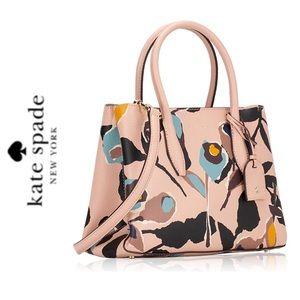 NWT Kate Spade leather top zip satchel